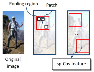 sp-Cov features pool image regions into a combine covariance feature