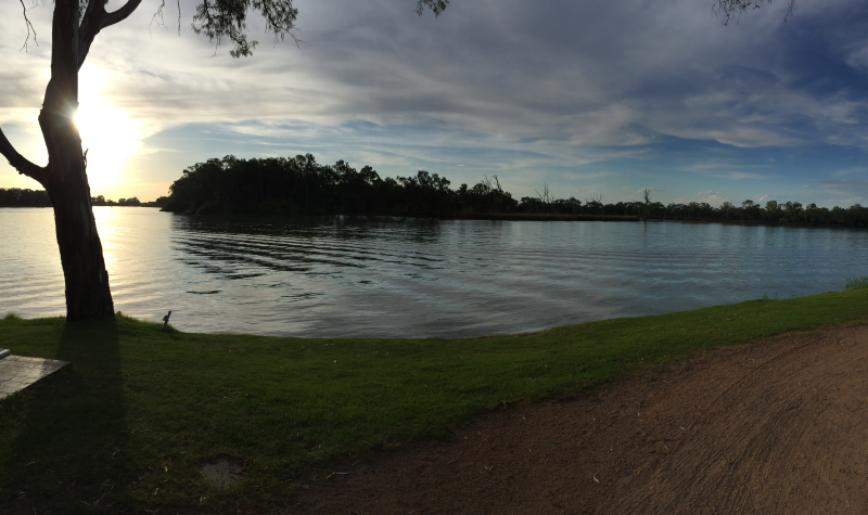 Murray River at dusk