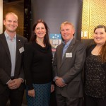Image of Dr Justin Hardi with fellow alumni, retired NASA astronaut Dr Andy Thomas AO, Dr Kimberley Clayfield and Ms Andrea Boyd