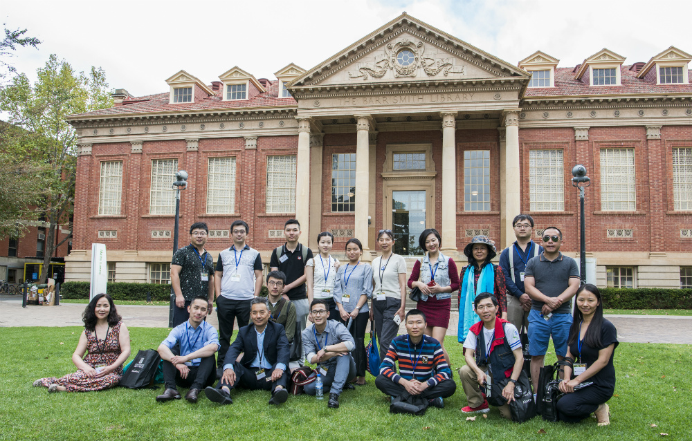 Photo of Back to Campus reunion participants, April 2018