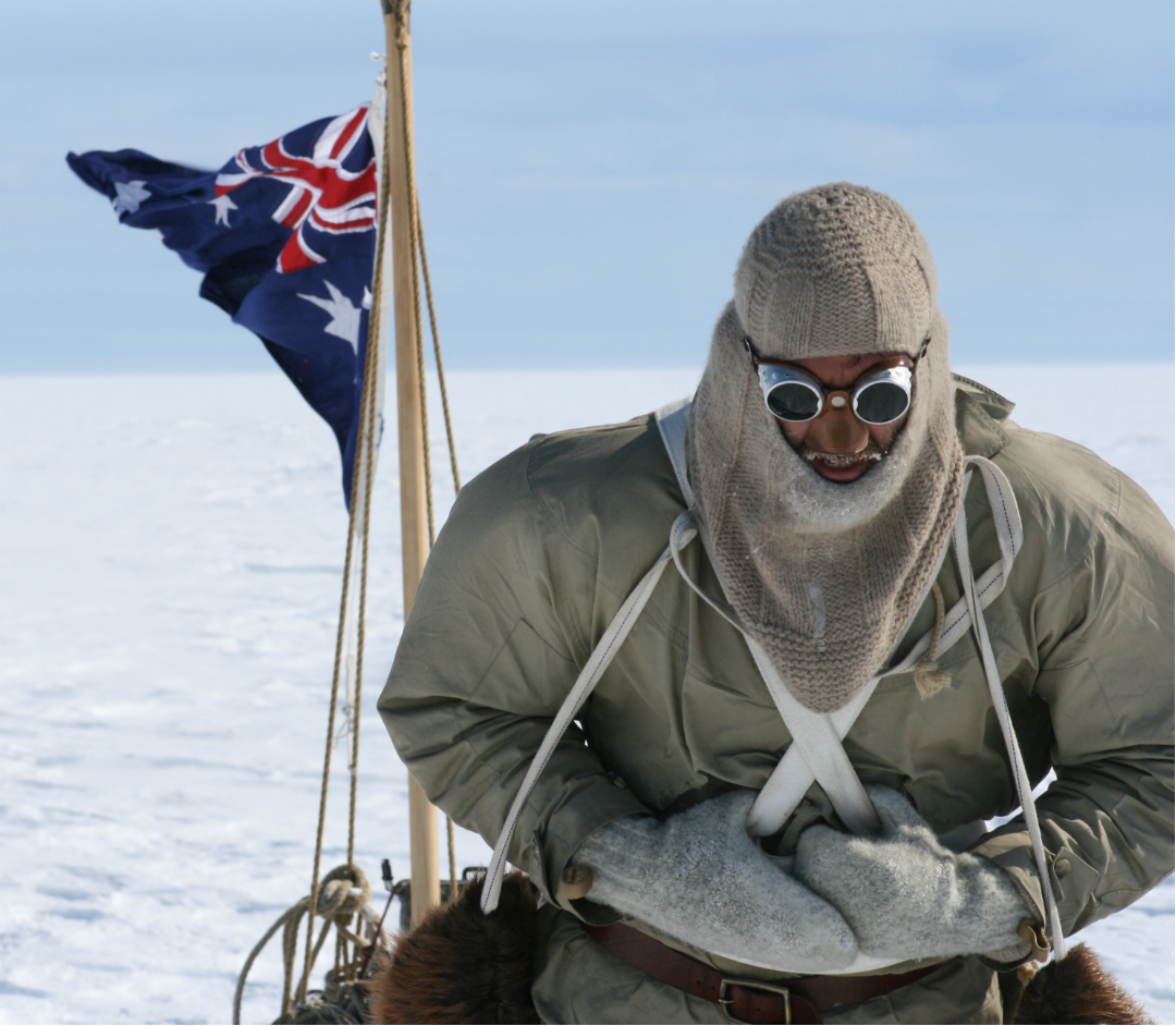 Photo of Tim Jarvis retracing of Sir Douglas Mawson's expedition