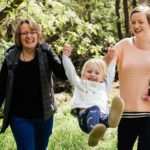Claire Roberts with daughter and two granddaughters
