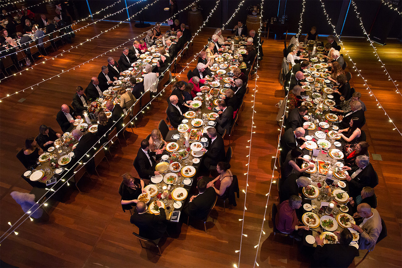 Aerial view of the tables at Board of Benefactors' Festum dinner