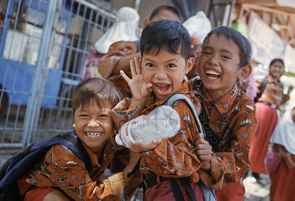 Indonesian School Boys laughing