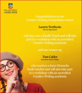 Creative writing competitions australia