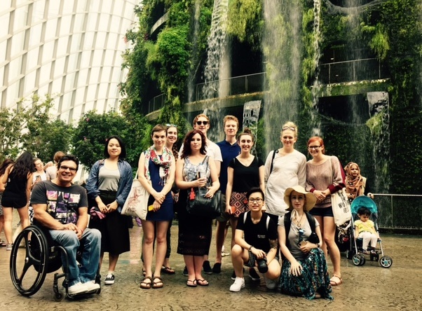 Students at the Gardens by the Bay (2015) (1)