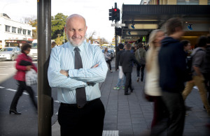 JUNE 7, 2012: ADELAIDE, SA. University of Adelaide Professor Graeme Hugo, who will receive an Officer of the Order of Australia (AO) in the Queen's Birthday Honours for distinguished service to population research, pictured at Rundle Mall in Adelaide, South Australia.  (Photo by Calum Robertson / Newspix) Contact Email: newspix@newsltd.com.au Contact Web URL: www.newspix.com.au Contact Email: newspix@newsltd.com.au