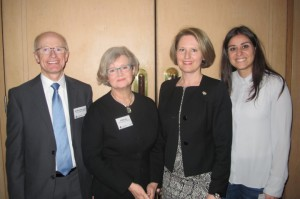 Our four local experts (L-R): Professor Michael Liebelt, Dr Fiona Kerr (both University of Adelaide), Dr Eva Balan-Vnuk (Microsoft) and Tiziana Bianco (Commonwealth Bank)
