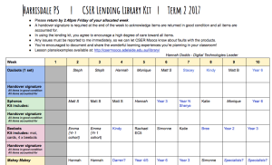 Harrisdale PS library schedule