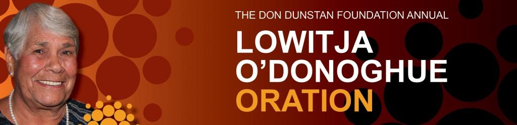Lowitja O'Donoghue Oration banner