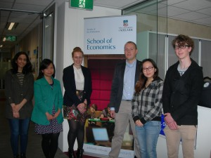Bachelor of Economics(Advanced) students with Christopher Koch