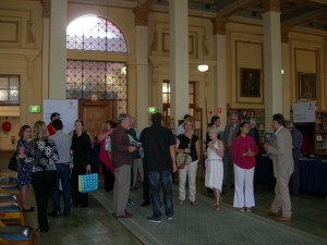 Guests enjoying the historic setting of the Barr Smith Library Reading Room