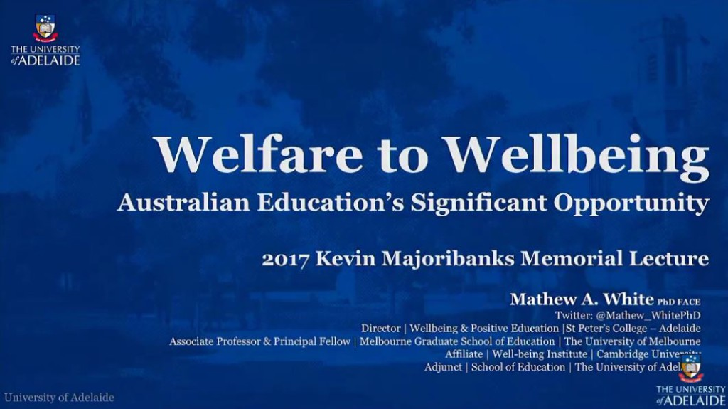 Welfare to Wellbeing: Australian Education's Significant Opportunity