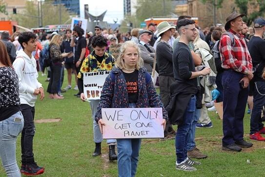 Victoria Square climate strike Adelaide