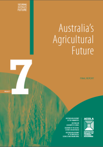ACOLA report on Australia's Agricultural Future