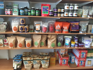 Superfoods display in South Australian natural foods shop, 2015. Photo by Jessica Loyer
