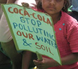 Rural Indian child protesting Coca-Cola bottling plant