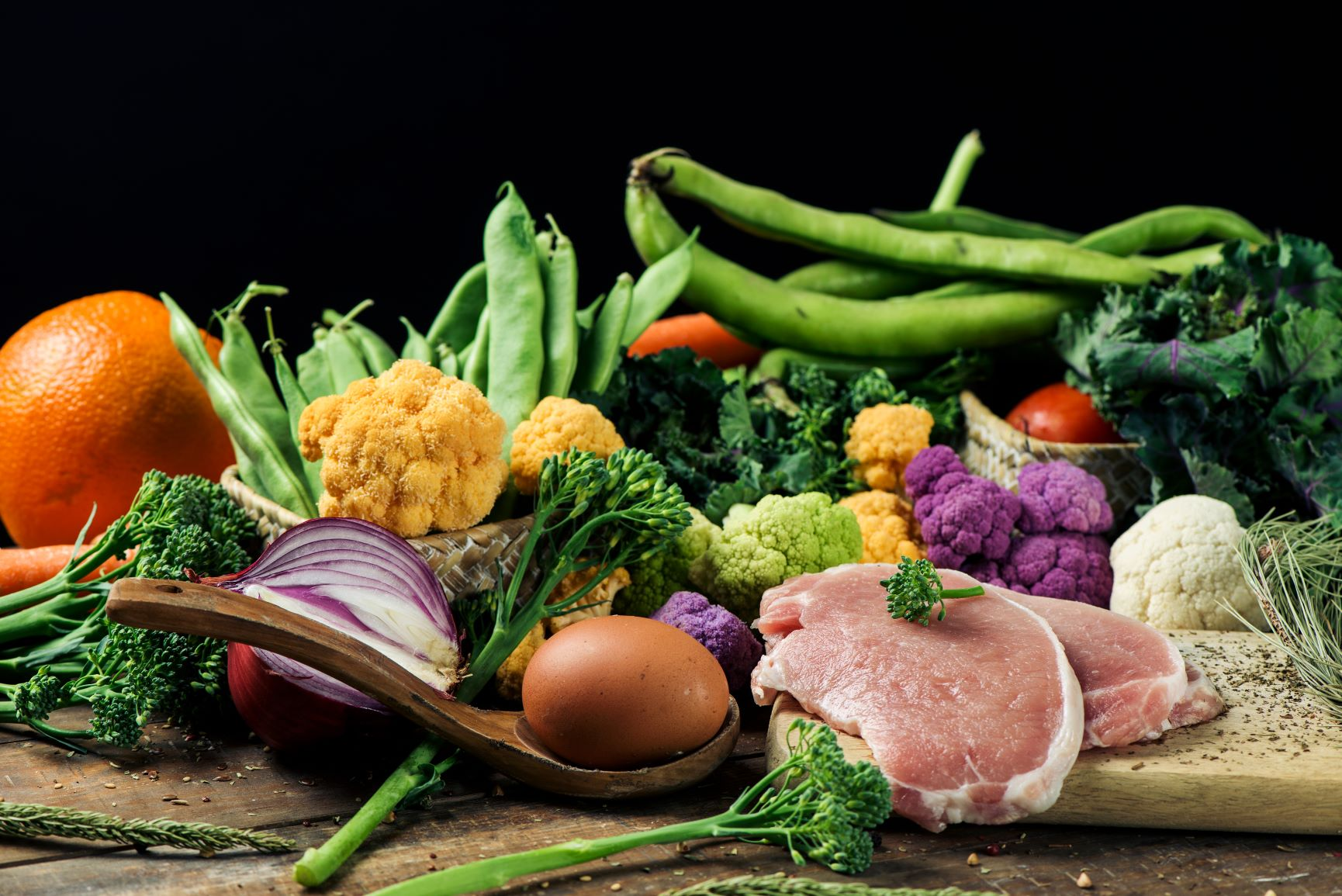 Range of foods from flexitarian diet