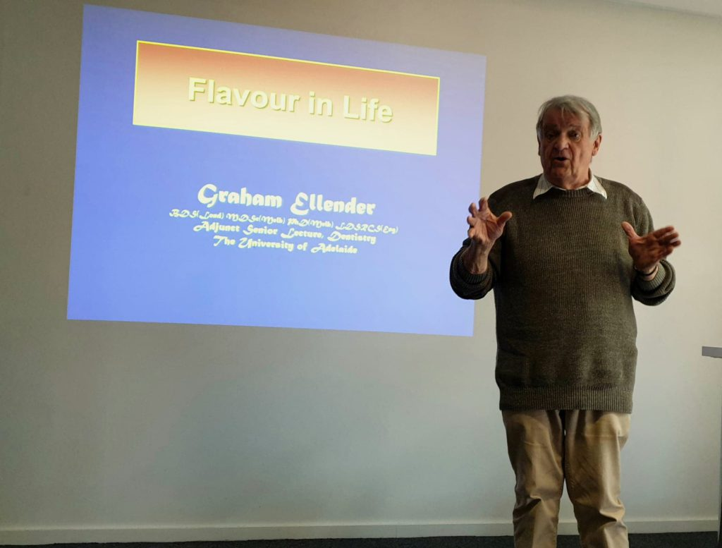 Graham Ellender presenting with title screen