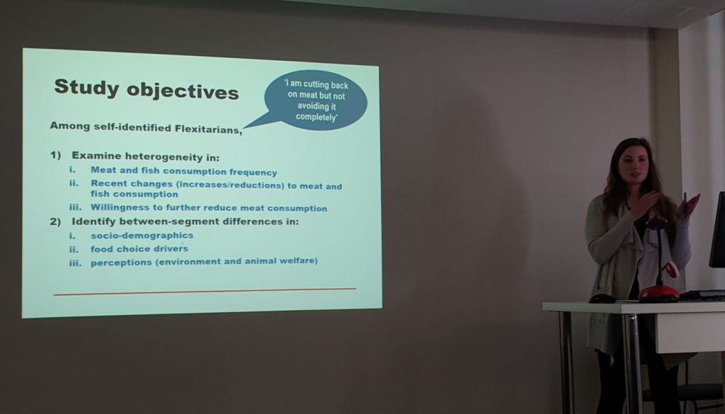 Lenka Malek with slide showing study objectives