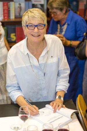 Susan Magarey signing copies of her book