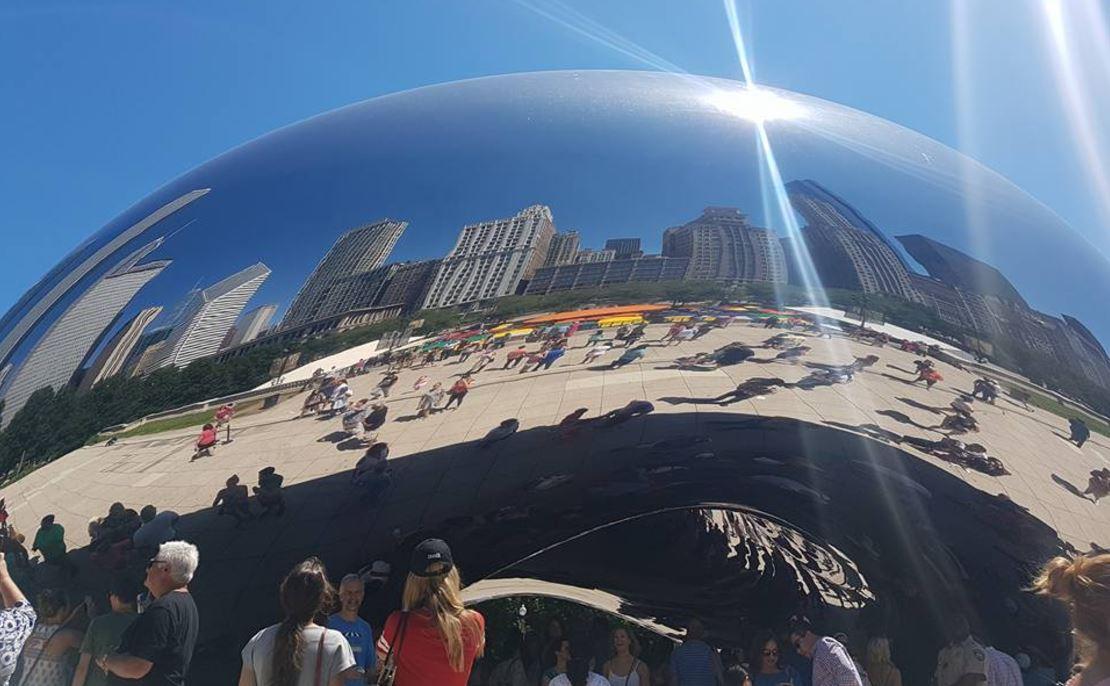 The Millennium Park in Chicago