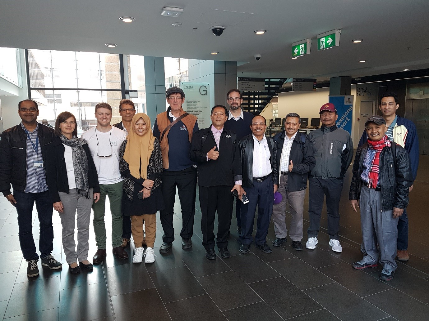 The group comprising Prof. Monika Hartmann and Dr. Johannes Simons from University of Bonn, Mr Tom Cosentino, delegates from Aceh and GFAR hosts Dr. Adam Loch and Mr. Rohan Yargop.