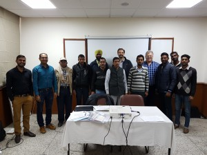 Dr. Adam Loch, Dr. Jay Cummins and Rohan Yargop with the IDCG survey team