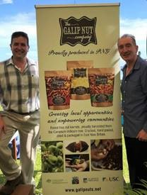 Craig Johns and Theo Simos at the Galip Nut launch event