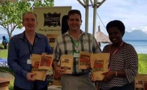 Theo Simos , Craig Johns of GFAR and Florence Rahiria, ACIAR PNG Regional Manager
