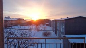 Sunrise in Östra Torn, Lund