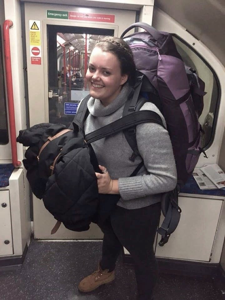 Navigating the London Tube, carrying a 28kg backpack, on few hours sleep