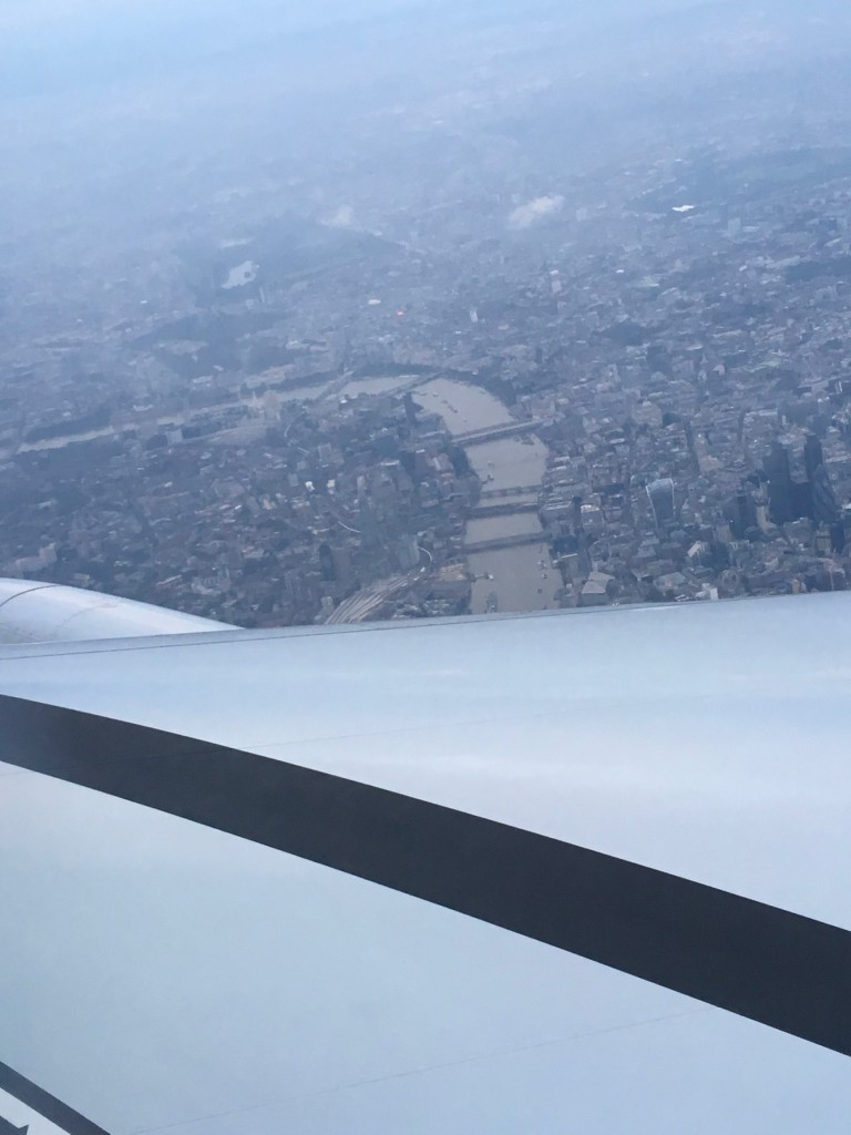Flying into Heathrow and looking over the River Thames