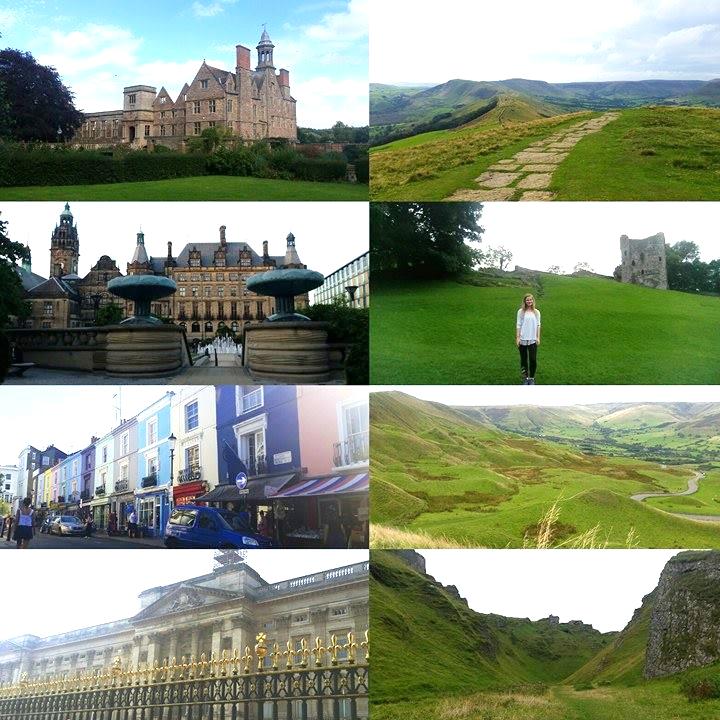 Rufford Abbey, Sheffield Peace Gardens, Portobello Markets, Buckingham Palace & Castleton, Peaks District (Mam Tor Summit, Perevil Castle & Winnis Pass).