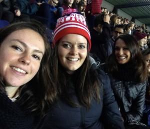 Attending Edinburgh vs Saint Andrews rugby with Erasmus exchange students