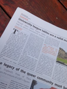 Writing for Edinburgh Uni's student newspaper