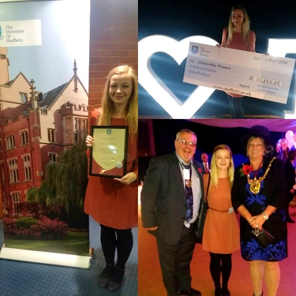 2. University of Sheffield Scholarship Evening – with Lord Mayor of Sheffield, Councillor Denise Fox & Lord Mayor's Consort, Councillor Terry Fox.