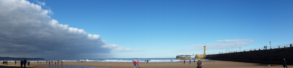 Morning against Afternoon – Whitby Sands