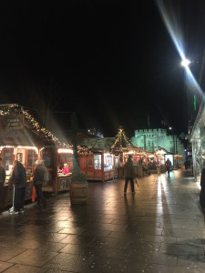 The Town Christmas Markets with the Bargate Landmark in the Background