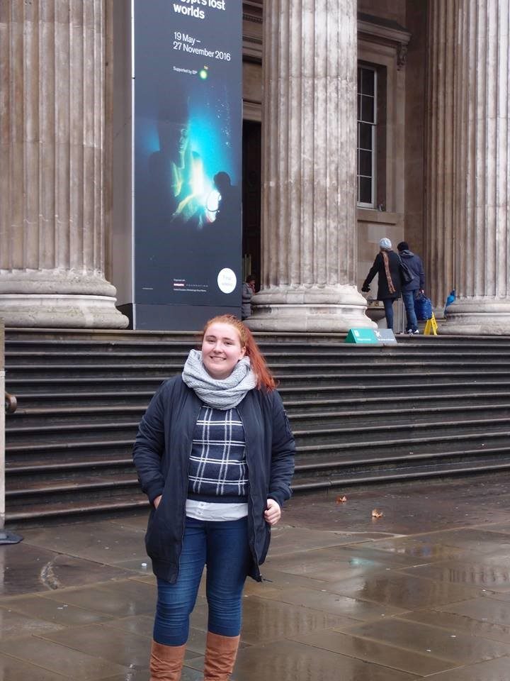 Outside the British Museum which I studied in my Building London course.