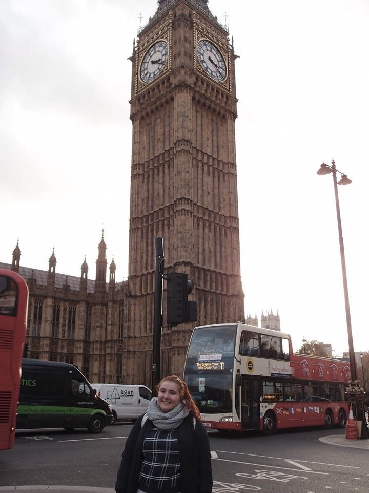 A very touristy shot: Outside Big Ben or the official name of the Elizabeth Tower.