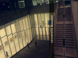 A glimpse of the lovely Bocconi campus with much more to come.