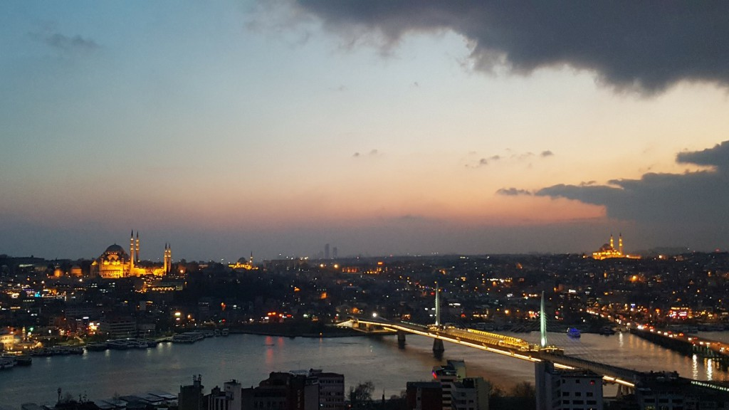 Sunset view of Istanbul