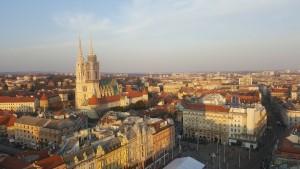 Daytime view of the Zagreb skyline