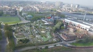 View of Mini Europe from the Atomium, Belgium