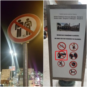 Signs in Sarajevo
