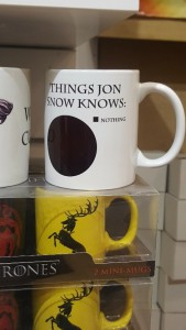 Jon Snow Knows Nothing Venn Diagram on a mug