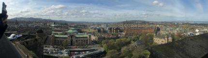The beautiful view from Edinburgh Castle