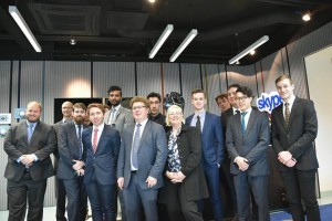 University of Adelaide students attended a private tour of the Tallinn Skype office for a presentation on cyber security. Richard Matthews, Author provided.