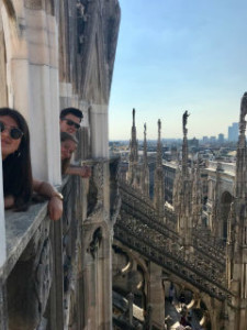 Our last few days in Milan and we finally made it to the top of the Duomo.